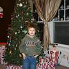 Gavin by the Christmas tree