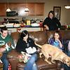 Alex, Boone, Erin, Lisa and Kim having Christmas at Lisa & Dan's ( 2010 )
