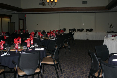 The room at Geneva is ready for the Lee Insurance Christmas party ( 2012 )