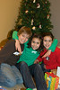 The kids were aching to open gifts but so patiently posted for photos.