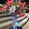 Decorated lighted flower vase at my local church during our annual Christmas Program (December 15th 2013)