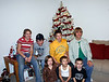 Grandkids by the Christmas tree