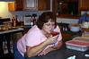 Fran having a Christmas drink.