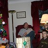 Dan, Gavin and Brock are waiting patiently for their turn to open a gift.