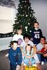 Alex, Elainee, Cory, Nicole, Bryce, Travis Bisenius and Wyatt by the Christmas Tree