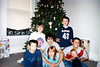 Alex, Cory, Elainee, Nicole, Bryce, Travis Bisenius and Wyatt by the Christmas Tree