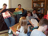 Cory, Alex, Elainee, Bryce, Travis Bisenius and Travis Wolf enjoying christmas