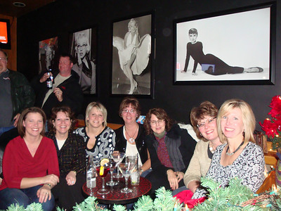 Lori and her co-workers at The Pearl for cocktails before their company Christmas party. ( 2008 )