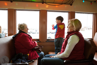 Train ride with Santa Claus, Mrs Claus and Frosty.