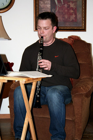 .....then Chris played a few Christmas songs on his clarinet.....   Christmas 2013