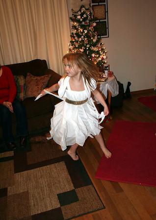 ....Makenna did an interpretive dance to a Christmas song......   Christmas 2013