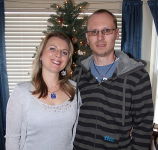 Patrick & I having our yearly Christmas photo taken in front of our Christmas tree.