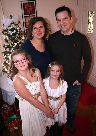 Lorinda, Chris, Anissa, & Makenna Christmas 2013
