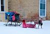 Christmas Sleigh at Attica Comunity Center, Green County, Wisconsin