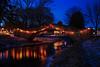 Christmas Lights Over Sixmile Creek, Village Park, Waunakee, Wisconsin