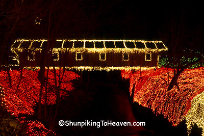 Covered Bridge, Christmas at Clifton Mill, Greene County, Ohio