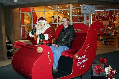 Patrick with Santa. Dec 2010