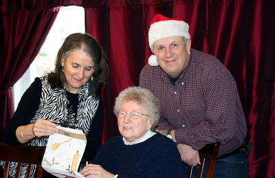 Mom, Grandma & Dad. Christmas 2010