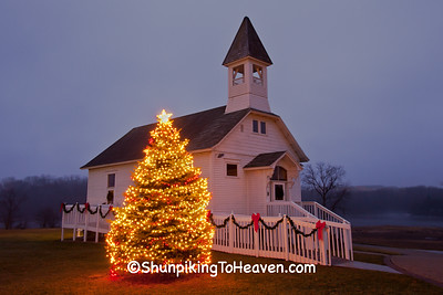 Christmas at Fair Valley School, Sauk County, Wisconsin