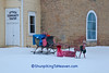 Christmas Sleigh at Attica Comunity Center, Green County, Wisconsin