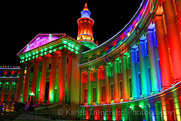 Christmas Lights Denver's City and County Building