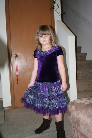 Anissa showing her Christmas Dress.