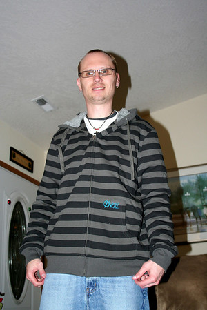 The hoodie I got Patrick for Christmas 2010