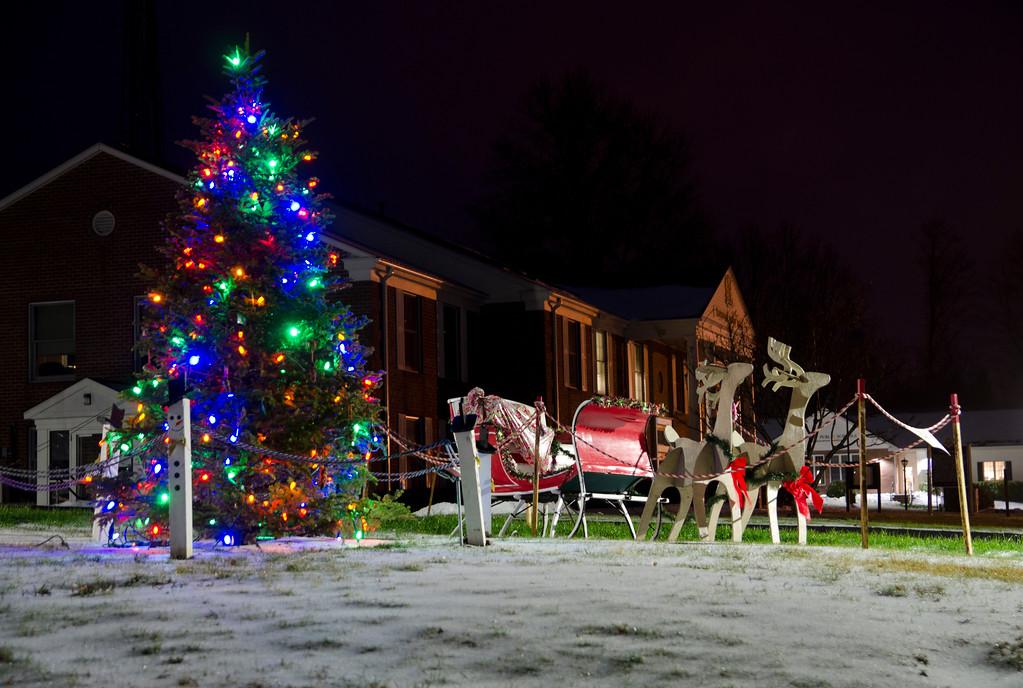 Town Hall during Christmas season