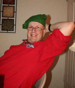 Dad trying out a do-rag for Christmas.  2013