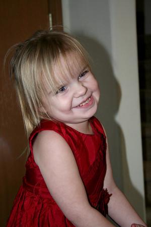 Makena and her Christmas dress.