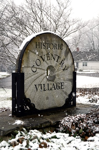 Historic Village marker, Lake Street.