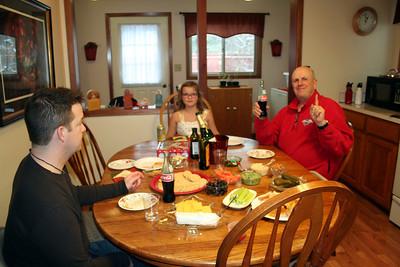 Chris, Anissa, & Dad Christmas 2013