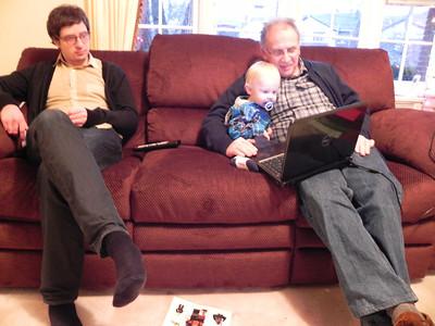 "Brian, Milo, & Alan watching ""Steamboat Willie"""