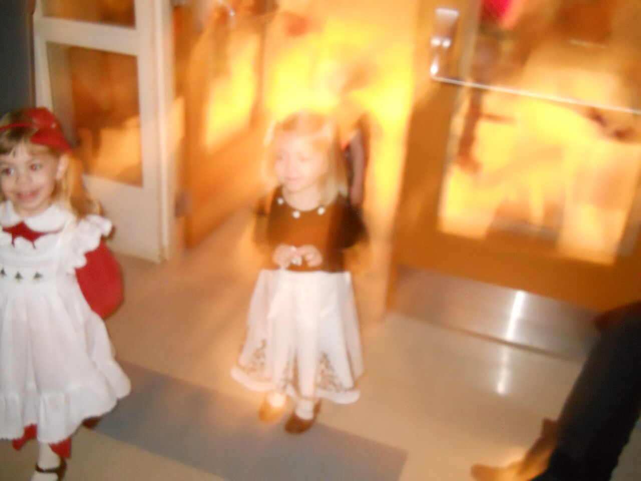 Terrible picture - but Katrina and her class entering the auditorium for the program
