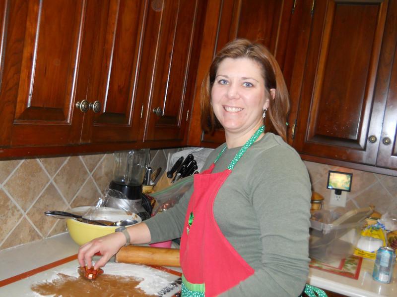 Ilsa cutting out sand tarts