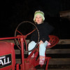 Reeses driving the tractor at Zoolight Safari