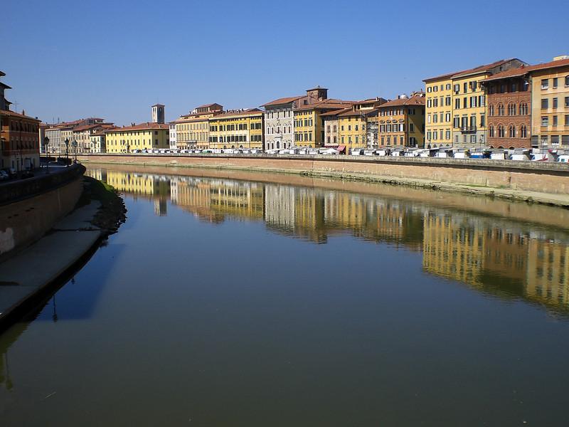 View from bridge at Pisa