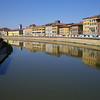 View from bridge at Pisa
