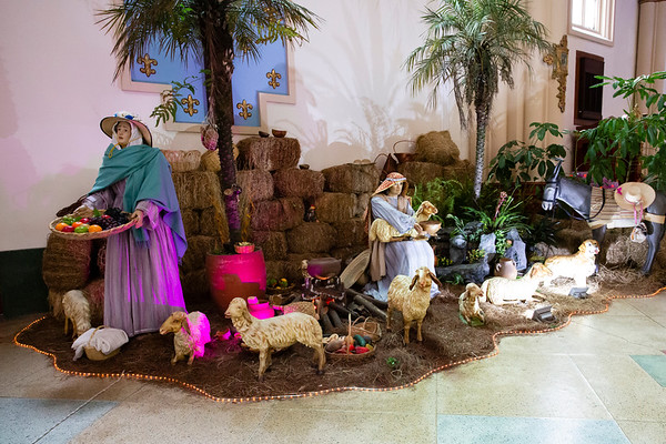 During December you can see scenes from Bible  related to the birth of Jesus Christ.