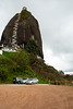 El Peñón de Guatapé is a granitic rock rising for 200m. It's possible to reach the top via stairs.