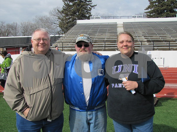 Tim Hart, Bob Spencer, and Becky Grazier the Committee Chairperson for the Moose's Easter Egg event.