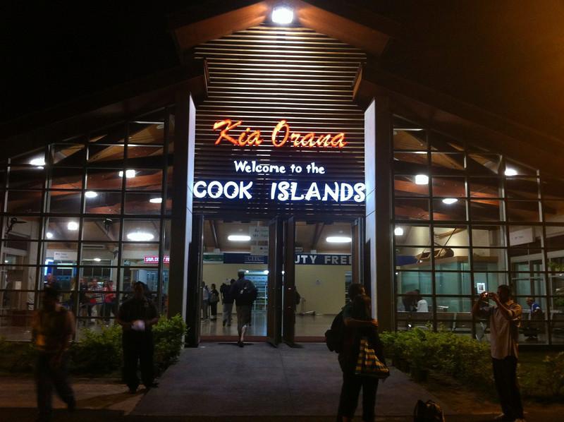 Arriving Rarotonga, Cook Islands.