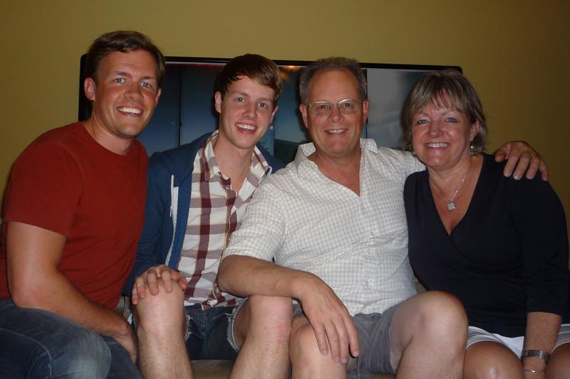 The Kolb family at Kyle's for Christmas Dinner