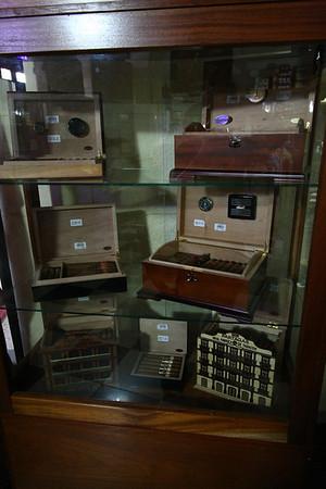 Fancier cigar boxes.
