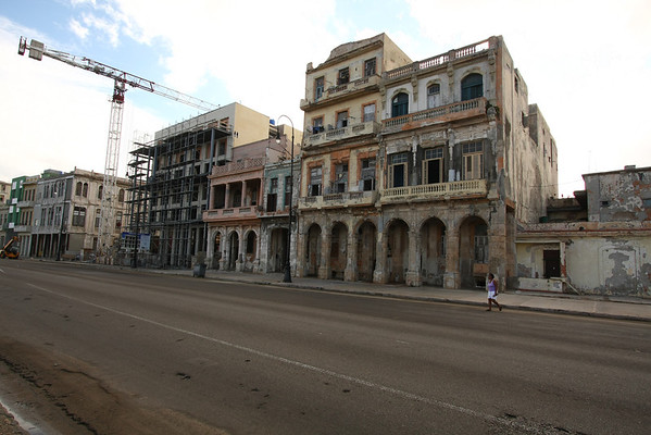 Not all buildings have been restored. For some of them work is in progress but for most nothing is going on.