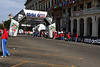 Finish line of the race that started early in the morning.