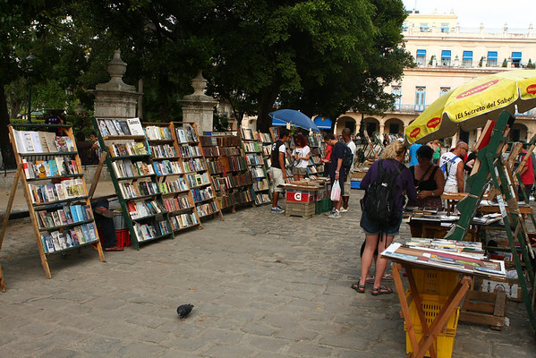 Books sold in Plaza de Armas.