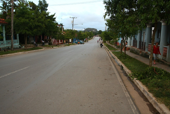 Main road in Viñales with plenty of restaurants and Casa Particulares (rooms rented by families in their home).