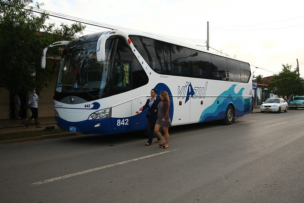 Viazul is the best transport company in the country. They are using Chinese buses and air conditioning to reproduce the feeling from a fridge.