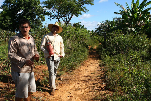 As the trails are not marked and you cross people's land an expensive guide is a must. Ours is the one on the left speaking Spanish which is not very important as we didn't. To the right is another one that we met on the trail. Luckily, he spoke one of the best English we found in Cuba.